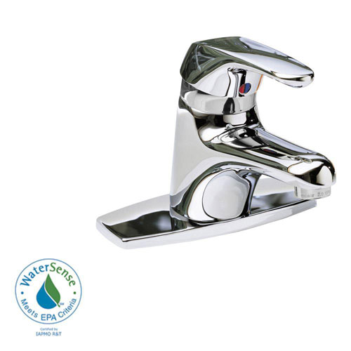 American Standard Seva Single Hole 1-Handle Low Arc Bathroom Faucet in Polished Chrome with Speed Connect Drain 33224