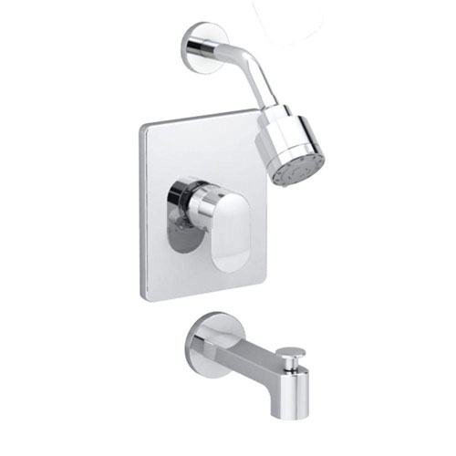American Standard Moments 1-Handle Tub and Shower Faucet Trim Kit in Polished Chrome (Valve Not Included) 363973
