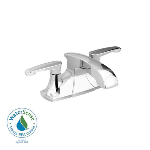 American Standard Copeland 4 inch 2-Handle Bathroom Faucet in Polished Chrome with Metal Speed Connect Pop-Up Drain 372441
