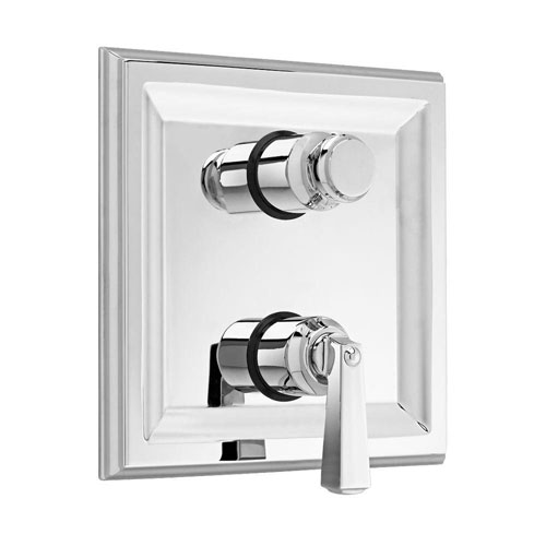 American Standard Town Square 2-Handle Thermostat Valve Trim Kit with Separate Volume Control in Polished Chrome (Valve Not Included) 409389