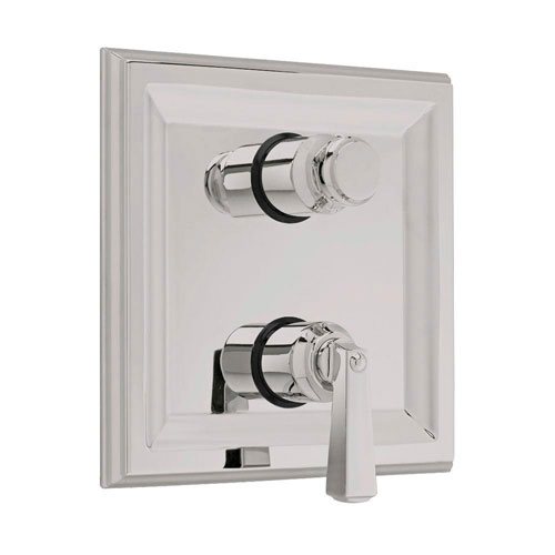 American Standard Town Square 2-Handle Thermostat Valve Trim Kit with Separate Volume Control in Satin Nickel (Valve Not Included) 409497