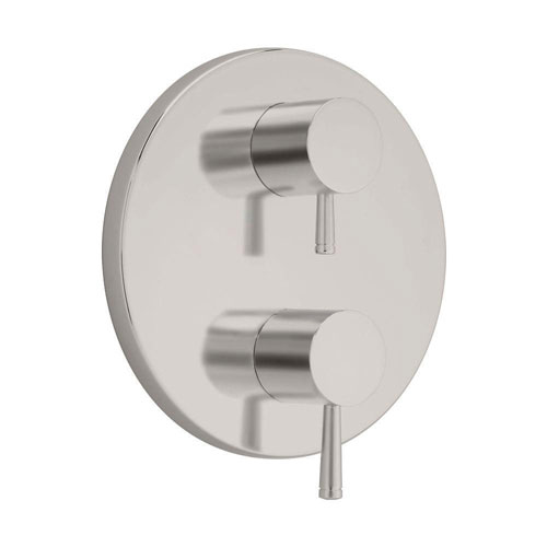 American Standard Serin 2-Handle Thermostat Valve Trim Kit in Satin Nickel with Separate Volume Control (Valve Not Included) 409537