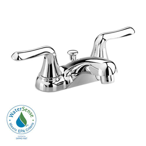 American Standard Colony Soft 4 inch Centerset 2-Handle Low-Arc Bathroom Faucet in Polished Chrome 410125