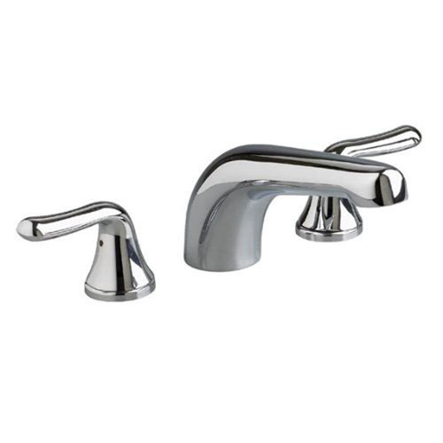 American Standard Colony Soft Lever 2-Handle Deck-Mount Roman Tub Faucet Trim Kit in Satin Nickel (Valve Not Included) 411341