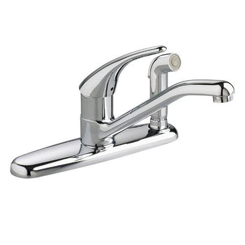American Standard Colony Soft Single-Handle Side Sprayer Kitchen Faucet in Polished Chrome 421257