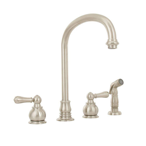 American Standard Hampton 2-Handle Kitchen Faucet in Satin Nickel 422585