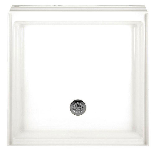 American Standard 3636STTS.020 Town Square 36-by-36-inch Single-Threshold Shower Base with Integral Water Retention and Tiling Flange, White 445749