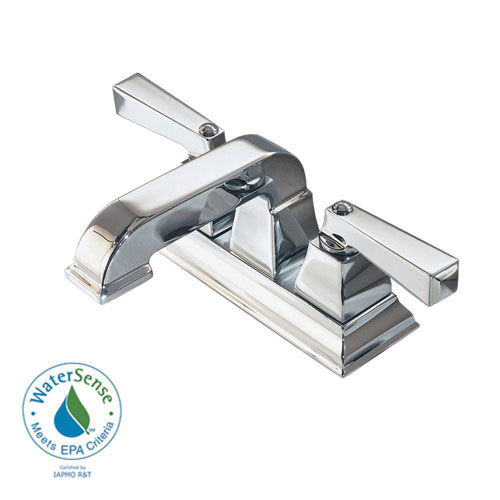 American Standard Town Square 4 inch Centerset 2-Handle Low-Arc Bathroom Faucet in Polished Chrome 445801