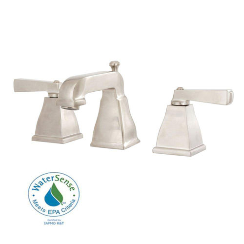 American Standard Town Square Widespread 2-Handle Low-Arc Bathroom Faucet in Satin Nickel 446097
