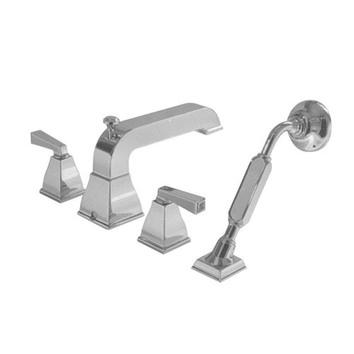 American Standard Town Square 2-Handle Deck-Mount Roman Tub Faucet with Hand Shower in Satin Nickel 446113