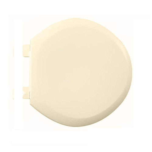 American Standard 5320.110.021 EverClean Round Front Plastic Toilet Seat with Cover and Slow Close Snap-Off Hinges, Bone 446589