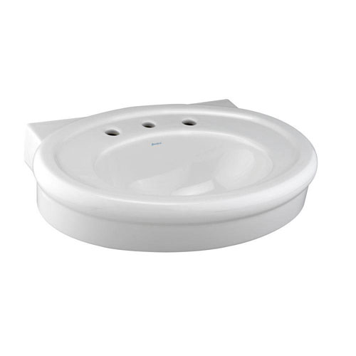 American Standard Collection 8-1/2 inch Pedestal Sink Basin in White 463061