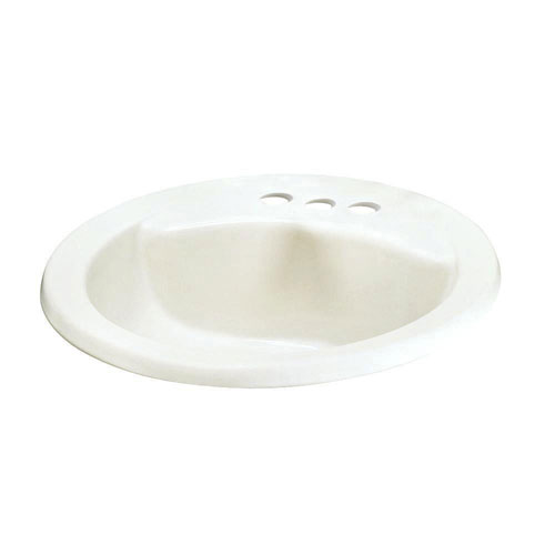 American Standard Cadet Round Self-Rimming Drop-in Bathroom Sink in White 463375