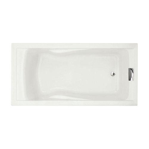 American Standard Evolution 6 foot Acrylic Reversible Drain Bathtub in White 465406