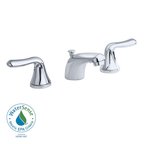 American Standard Colony Soft 8 inch Widespread 2-Handle Low-Arc Bathroom Faucet in Polished Chrome with Speed Connect Drain 465661
