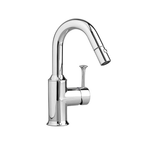American Standard Pekoe Single-Handle Pull-Out Sprayer Kitchen Faucet in Polished Chrome 466069