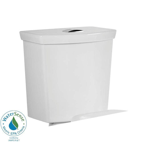 American Standard H2Option 1.0/1.6 GPF Dual Flush Toilet Tank Only in White 466076