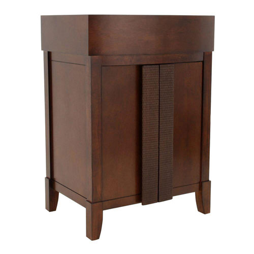 American Standard Tropic 24 inch W x 19.5 inch D x 34.5 inch H Vanity Cabinet Only in Nutmeg 466144