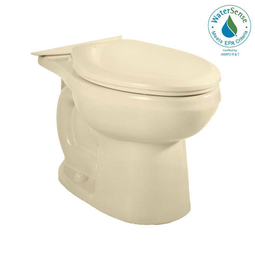 American Standard H2Option Siphonic Dual Flush Elongated Toilet Bowl Only in Bone 466199