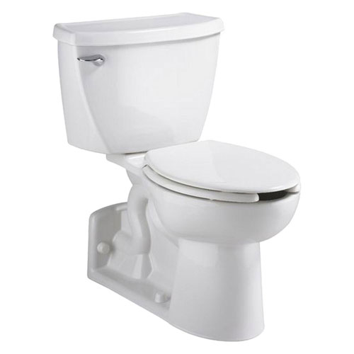 American Standard Yorkville FloWise 2-piece 1.1 GPF Right Height Pressure Assisted Elongated Toilet in White 468507