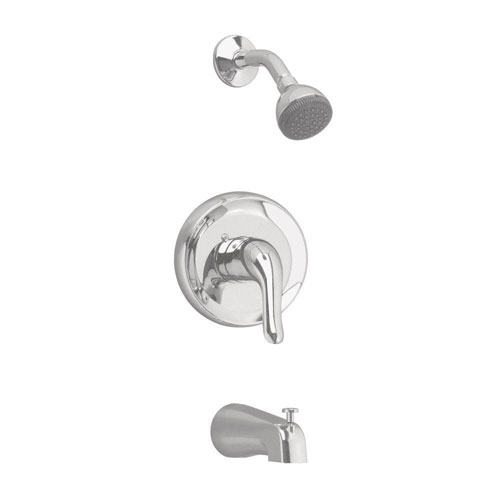 American Standard Colony Soft 1-Handle Tub and Shower Faucet Trim Kit in Satin Nickel 478015