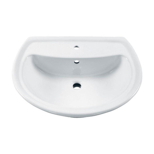 American Standard Cadet 6 inch Pedestal Sink Basin with Center Hole Only in White 481965