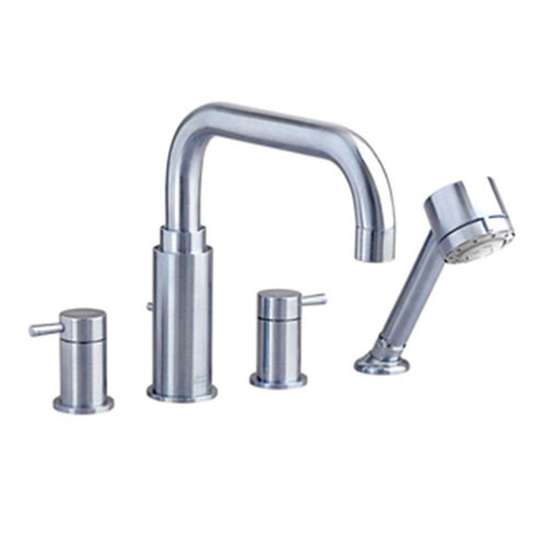 American Standard Serin Lever 2-Handle Deck-Mount Roman Tub Faucet with Handshower in Satin Nickel 482518