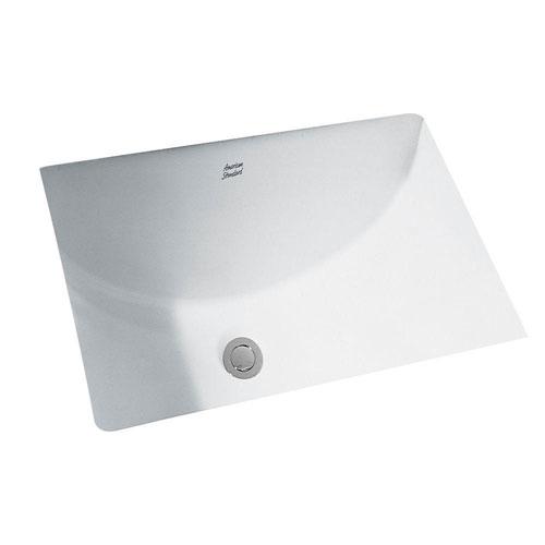 American Standard Studio Rectangular Undermount Bathroom Sink in White 483957