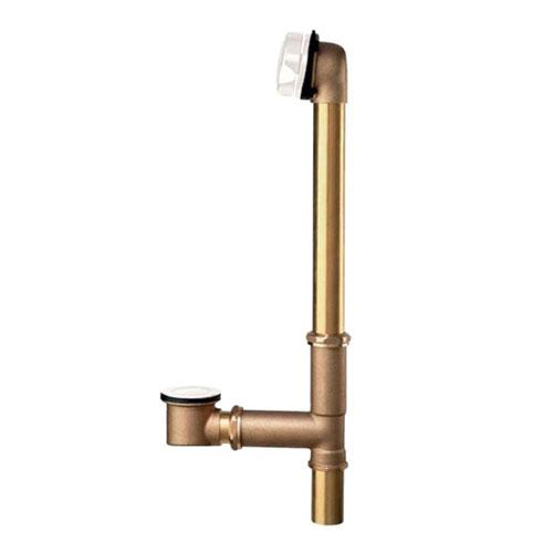 American Standard Brass Universal Bath Drain in White 485057