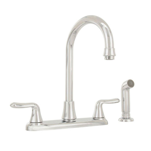 American Standard Colony Soft 2-Handle Kitchen Faucet in Polished Chrome 486321