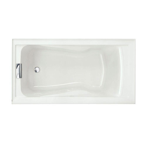 American Standard Evolution 5 foot by 32 Inch Left Drain Soaking Tub in White 489354
