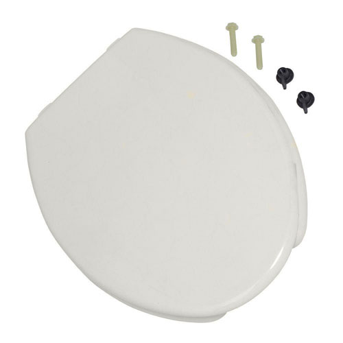 American Standard 5325.024.020 Rise and Shine Elongated Open Front Toilet Seat with Cover, White 4980