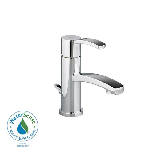 American Standard Berwick Monoblock Single Hole 1-Handle Low-Arc Bathroom Faucet with Speed Connect Drain in Polished Chrome 499607