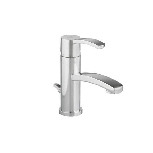 American Standard Berwick Monoblock Single Hole 1-Handle Low-Arc Bathroom Faucet with Speed Connect Drain in Satin Nickel 499728