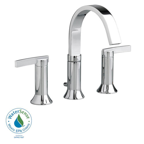 American Standard Berwick 8 inch Widespread 2-Handle High-Arc Bathroom Faucet in Polished Chrome with Speed Connect Drain 500158