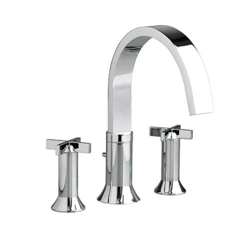 American Standard Berwick Cross 2-Handle Deck-Mount Roman Tub Faucet in Polished Chrome 500707