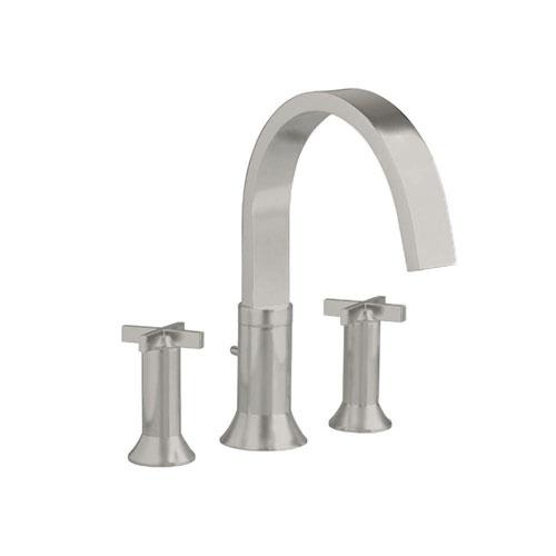 American Standard Berwick Cross 2-Handle Deck-Mount Roman Tub Faucet in Satin Nickel 500843