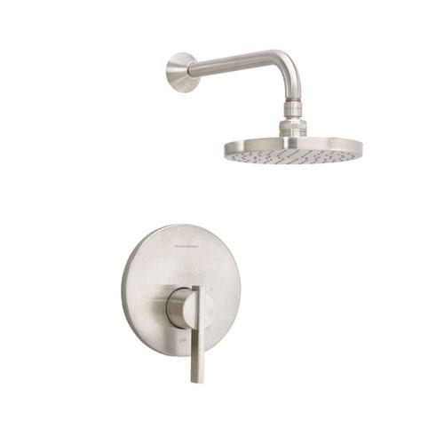 American Standard Berwick 1-Handle Shower Only Faucet Trim Kit Rain Showerhead in Satin Nickel 501410