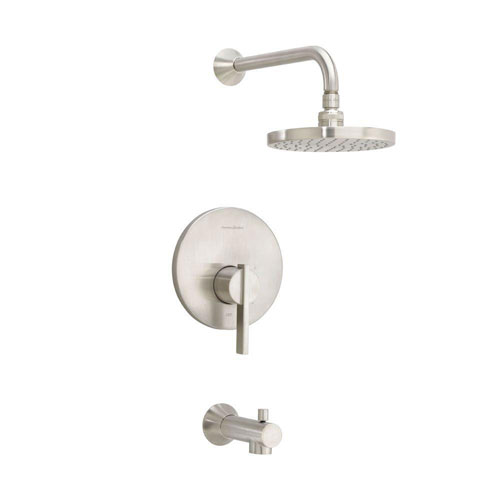 American Standard Berwick 1-Handle Tub and Shower Faucet Trim Kit in Satin Nickel (Valve Not Included) 501471