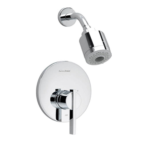 American Standard Berwick 1-Handle Shower Faucet Trim Kit, 3-Function Showerhead in Polished Chrome (Valve Not Included) 501503