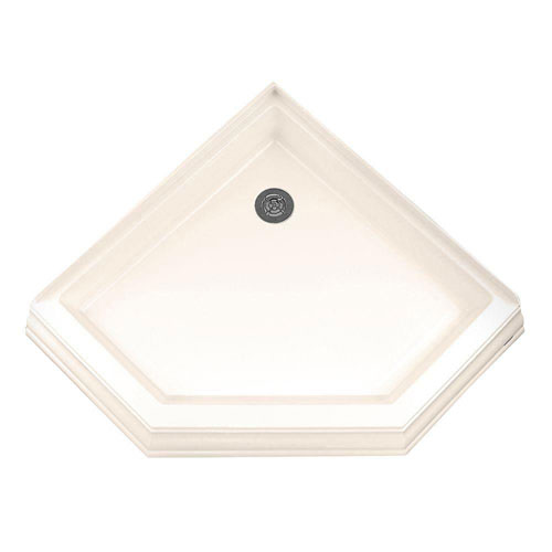 American Standard Town Square 38-1/4 inch x 38-1/4 inch Single Threshold Neo-Angle Corner Shower Base in Linen 501889