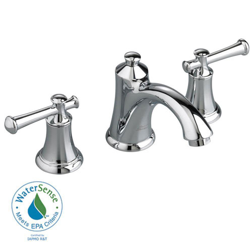 American Standard Portsmouth Widespread 2-Lever Handle Bathroom Faucet in Polished Chrome with Speed Connect Drain 513132