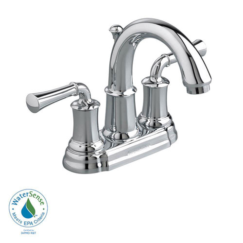 American Standard Portsmouth 4 inch Centerset 2-Handle High-Arc Bathroom Faucet with Speed Connect Drain in Polished Chrome 513147