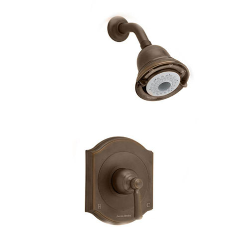 American Standard Portsmouth 1-Handle Shower Faucet Trim Kit, Square Escutcheon in Oil Rubbed Bronze 513206