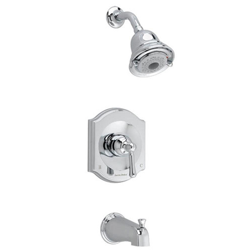 American Standard Portsmouth 1-Handle Tub and Shower Faucet Trim Kit in Polished Chrome (Valve Not Included) 513208