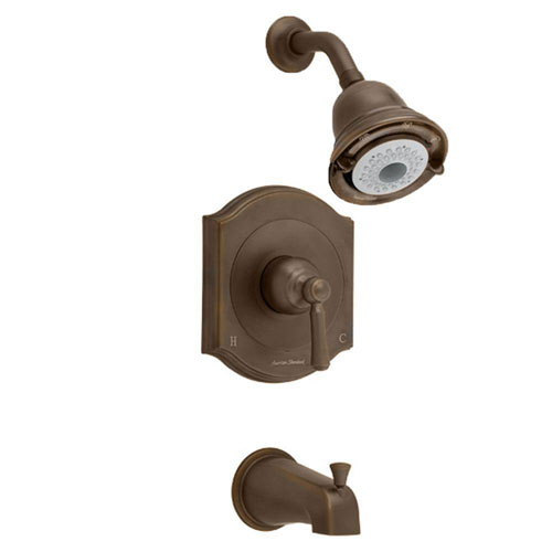 American Standard Portsmouth 1-Handle Tub and Shower Faucet Trim Kit in Oil Rubbed Bronze (Valve Not Included) 513211