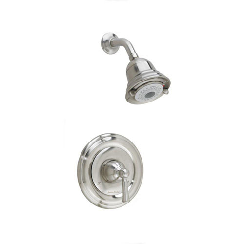 American Standard Portsmouth 1-Handle Shower Faucet Trim Kit, Round Escutcheon in Satin Nickel 513233
