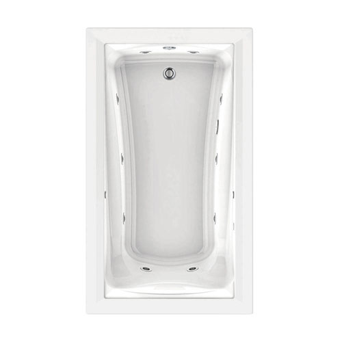 American Standard Green Tea EcoSilent 6 foot Whirlpool and Air Bath Tub with Chromatherapy in White 517238
