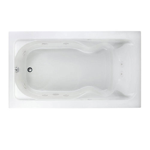 American Standard 2774018WC.020 Cadet 6-foot by 42-inch Whirlpool with Everclean and Hydro Massage System-I, White 520801