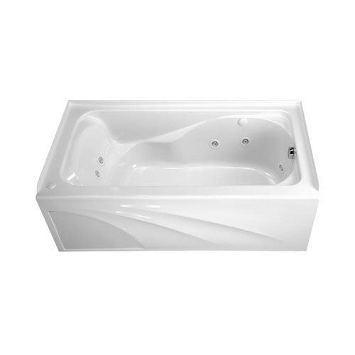 American Standard 2776118WC.020 Cadet 5-foot by 32-inch Whirlpool with Everclean, Hydro Massage System-I and Integral Apron, White 538657